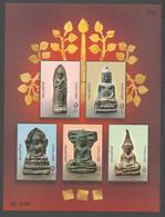 Thailand, 2005, Buddha Statues, MNH, Michel Block 188 - Tailandia