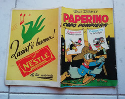 ALBI D' ORO N° 98 10\08\1953 - PAPERINO CAPO POMPIERE PRIMA RISTAMPA 36 PAGINE - Disney