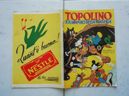 ALBI D' ORO N° 110 30\05\1953 TOPOLINO E IL VAMPIRO DELLA PRATERIA 1° RISTAMPA - Disney
