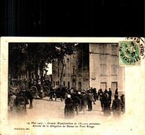 Mai 1907 - Grande Manifestation De 180.000 Personnes -arrivée De La Délégation De Baixas Au Pont Rouge (petit Manque Bas - Perpignan