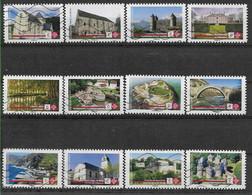 2019 FRANCE Adhesif 1765-76 Oblitérés, Patrimoine, Série Complète - Adhesive Stamps