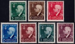 ✔️ Albanien Albania 1942 - 3 Years Union With Italy- Mi. 322/328 * MH - €50 - Depart 9.99 - Albania