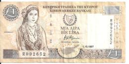 CHYPRE 1 POUND 1997 VF P 57 - Cyprus