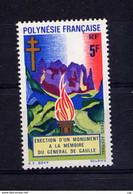 Polynésie  -  1971  -  Avion  :  Yv  46  **  De Gaulle - Unused Stamps