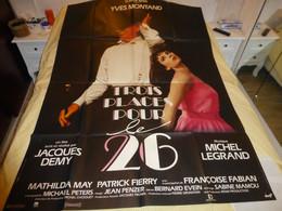 Trois Places Pour Le 26, Yves Montand, SUPERBE Affiche Originale Du Film, 120 X 160 ; F 06 - Posters