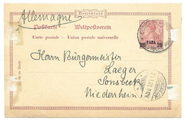 German Offices Stationary From Constantinople To Sonsbeck 19.01.1901 P10=45 Euros - Offices: Turkish Empire