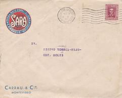 "URUGUAY. ""SARA"" YERBA MATE ESPECIALISIMA. CARRAU & CIA, MONTEVIDEO. ENVELOPPE CIRCULEE ANNEE 1957.- LILHU - Food"