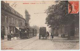 CPA Tramway Roubaix (59) RARE L'Octroi Rue De Lille Avec Le Tramway Ligne 2   Ed Hautmont  1902 - Tramways