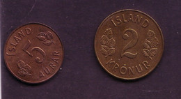 Nine Different Coins, 1960's, Good Condition - Iceland
