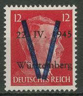 Saulgau (Württemberg) 1945 Freimarke Mit Aufdruck V Postfrisch - Ohne Zuordnung
