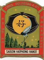 H1204 - Etiquette - LOUIS OGLIASTRO & Cie - Saïgon Haïphong Hanoï - Publicidad
