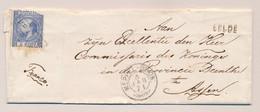 Nederland - 1871 - 5 Cent 3e Emissie Van L EELDE Via Takjestempel MEPPEL-GRON: Naar TL Assen - Briefe U. Dokumente