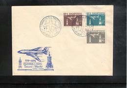 Albania 1960 Flight Tirana - Moscow Interesting Cover - Albania