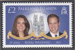 FALKLAND INSELN  1142, Postfrisch **, Hochzeit Von Prinz William Und Catherine Middleton, 2011 - Falkland Islands