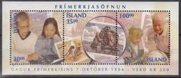 ISLAND  Block 17, Postfrisch **, Tag Der Briefmarke: Briefmarkensammeln, 1994 - Blocks & Kleinbögen
