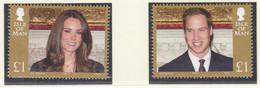 ISLE OF MAN  1687-1688 I, Postfrisch **, Hochzeit Von Prinz William Und Catherine Middleton, 2011 - Isle Of Man