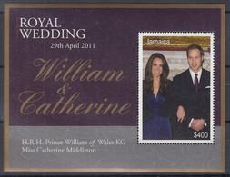JAMAICA  Block 62, Postfrisch **, Hochzeit Von Prinz William Und Catherine Middleton, 2011 - Jamaique (1962-...)