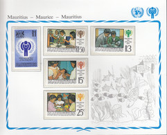 MAURITIUS 484-488, Postfrisch **, UNICEF, Internationales Jahr Des Kindes, 1979 - Mauritius (1968-...)