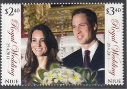 NIUE  1183-1184, Postfrisch **, Hochzeit Von Prinz William Und Catherine Middleton, 2011 - Niue