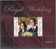 NIUE  Block 163, Postfrisch **, Hochzeit Von Prinz William Und Catherine Middleton, 2011 - Niue