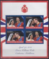 ST.VINCENT Und GRENADINEN  6970-6971, Kleinbogen Postfrisch **, Hochzeit Von Prinz William Und Catherine Middleton, 2011 - St.Vincent E Grenadine