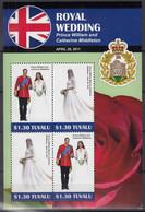 TUVALU  1727-1728, Kleinbogen, Postfrisch **, Hochzeit Von Prinz William Und Catherine Middleton, 2011 - Tuvalu (fr. Elliceinseln)