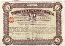 Titre Ancien - The Rambla Company Of Montevidéo  Limited - Titre De 1911 - - Mines