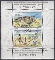 ZYPERN Türk.   Block 13, Gestempelt, Europa CEPT: Entdeckungen Und Erfindungen, 1994 - Used Stamps
