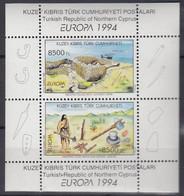 ZYPERN Türk.   Block 13, Postfrisch **, Europa CEPT: Entdeckungen Und Erfindungen, 1994 - Unused Stamps