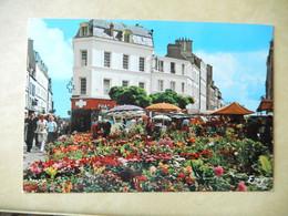 Dept 50 Cherbourg Le Marché Aux Fleurs Place Du Général De Gaulle  ( écrite + Timbre 1975 ) Edit Le Goubey - Cherbourg