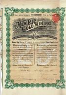 Titre Ancien - The New Rip Gold Mining Limited - Titre De 1912 - - Mines