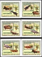 A{125} Mozambique 2007 Crocodiles 6 S/S Deluxe MNH** - Mozambique