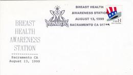 USA. BREAST HEALTH AWARENESS STATION, MONARCHS. 1999, SACRAMENTO. SPC ENVELOPPE.- LILHU - Covers & Documents