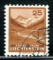 Liechtenstein Freimarken 1934 Michel 131 Gestempelt - Gebraucht