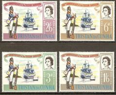 """Tristan Da Cunha 1966 Mi.No. 96 - 99 Sailing Ship HMS """"Falmouth"""" Soldier Militaria 4v MNH ** 2,20 € - Tristan Da Cunha"""