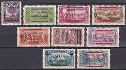 Grand Liban 1928 Timbres De 1927 Surchargés N°98/100-102-105-106-107-108-110 Neuf*charnière - Neufs