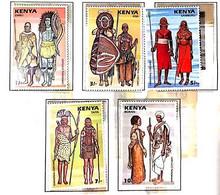 A) 1987, KENYA, CEREMONIAL SUITS: EMBU, KISII, SAMBURU, TAITA, BORAN, MULTICOLORED - Kenia (1963-...)