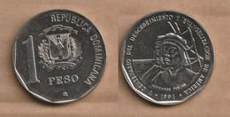 DOMINICANA R.  1 Peso (Pinzon Brothers) 1991 Copper-nickel • 20.1 G • ⌀ 34 Mm KM# 81 - Dominicana