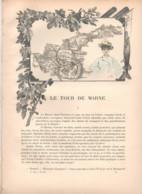 TOUR DE LA MARNE1891 - JOINVILLE Les Laveuses à BONNEUIL La Varenne Le Moulin Brulé CHAMPIGNY MALTOURNÉE GOURNEY REGNIER - Revistas - Antes 1900