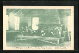 AK Arround Fireplace In Y. M. C. A. Building- Camp Sherman In Chillicothe, Ohio - Scouting