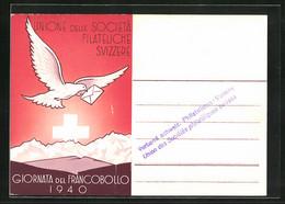 AK Unione Delle Societá Filateliche Svizzere 1940, Ausstellung - Stamps (pictures)