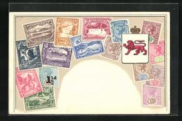 AK Briefmarken Aus Tasmania, Wappen - Stamps (pictures)