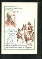 Künstler-AK Roul Serres: Journée Nationbale Du Timbre 1954, Comte De La Valette - Stamps (pictures)