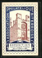 Künstler-AK Marty: Béziers, Exposition Locale De Propagande Philatélique 1937 - Stamps (pictures)