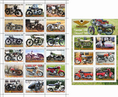 Fantazy Labels / Private Issue. The History Of Motorcycle Transport. Motorcycles Ambassador UK. 2021 - Fantasy Labels