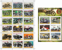 Fantazy Labels / Private Issue. The History Of Motorcycle Transport. Motorcycles ARIEL UK. 2021 - Fantasy Labels