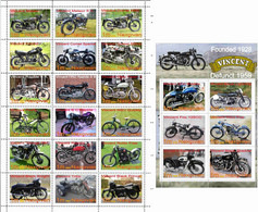 Fantazy Labels / Private Issue. The History Of Motorcycle Transport. Motorcycles  Vincent Black Shadow UK. 2021 - Fantasy Labels