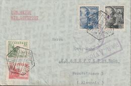 1939-CARTA-Edifil. 874/75. G. FRANCO SANCHEZ-TODA. MADRID A ALEMANIA. Censura - 1931-50 Lettres