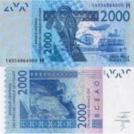 WEST AFRICAN STATES, NIGER, 2000 Francs, 2014, Code H, P616Hn, UNC - Niger