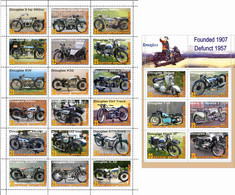 Fantazy Labels / Private Issue. The History Of Motorcycle Transport. Motorcycles  Douglas. UK. 2021 - Fantasy Labels
